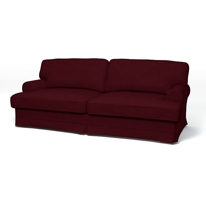 Ekeskog Sofa Covers 3 Seater Regular Fit Using The Fabric Panama Cotton Wine