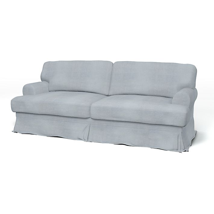 Ekeskog Sofa Covers 3 Seater Loose Fit Using The Fabric Simply Velvet Silver
