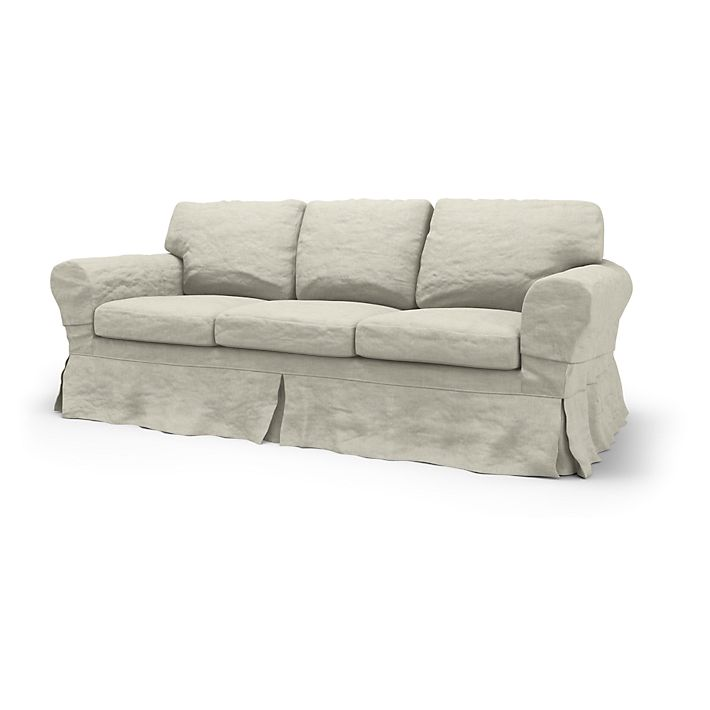 Rp Sofa Covers 3 Seater Loose Fit Country Using The Fabric Brera Lino