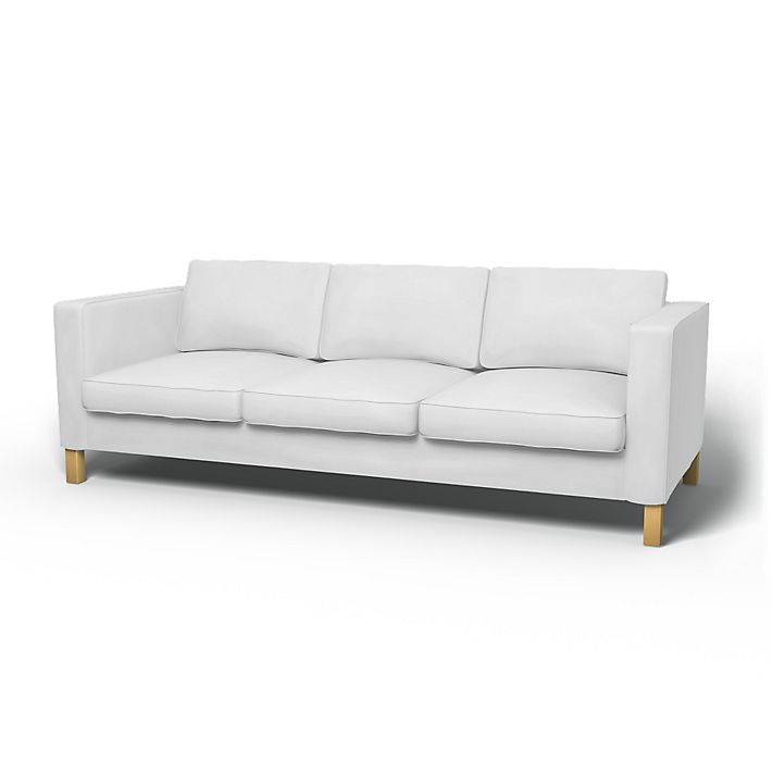 Karlanda Sofa Covers 3 Seater Regular Fit Using The Fabric Simply Cotton Silver