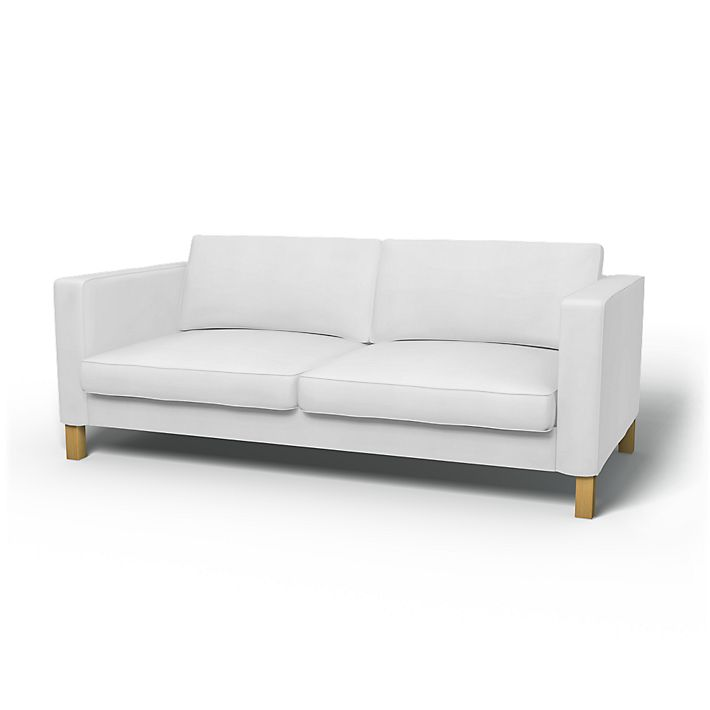 Karlstad Sofa Covers 3 Seater Regular Fit Using The Fabric Simply Cotton Silver