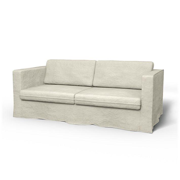 Karlstad Sofa Covers 3 Seater Loose Fit Urban Using The Fabric Brera Lino