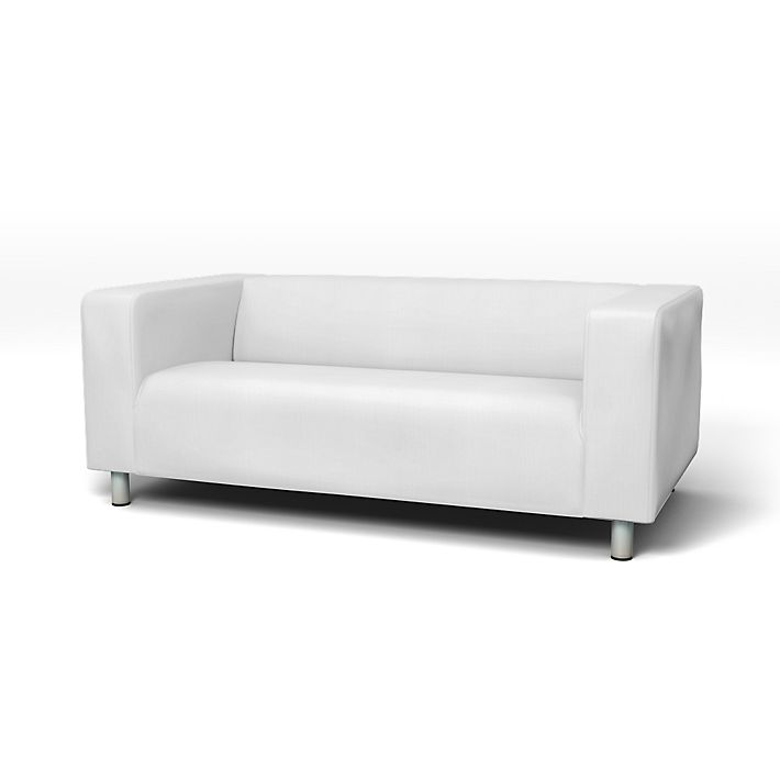 Klippan Sofa Covers 2 Seater Regular Fit Using The Fabric Simply Cotton Silver