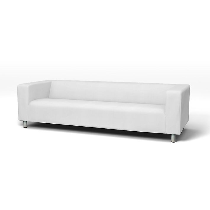 Klippan Sofa Covers 4 Seater Regular Fit Using The Fabric Simply Cotton Silver