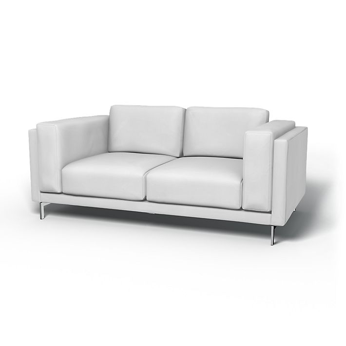 Nockeby Sofa Covers 2 Seater Regular Fit Using The Fabric Simply Cotton Silver
