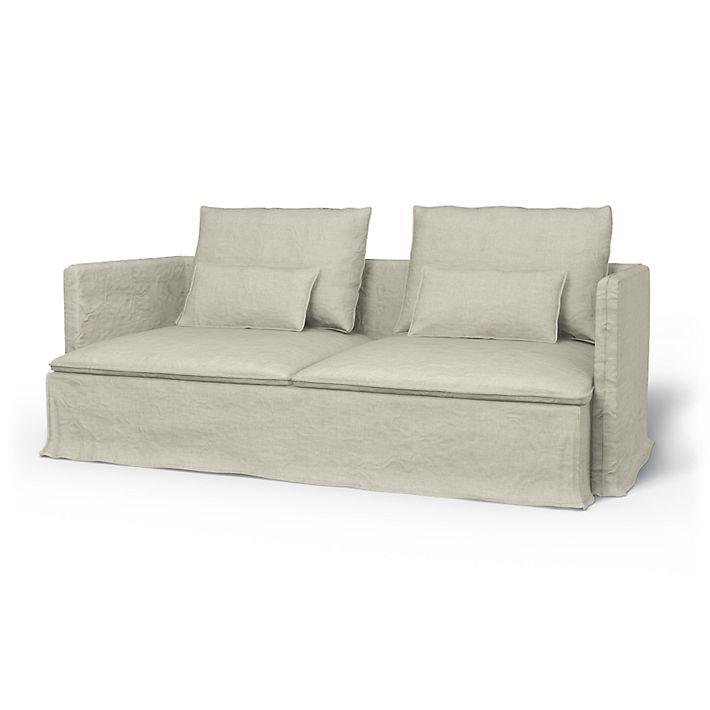 Söderhamn Sofa Covers 3 Seater Loose Fit Urban Using The Fabric Brera Lino