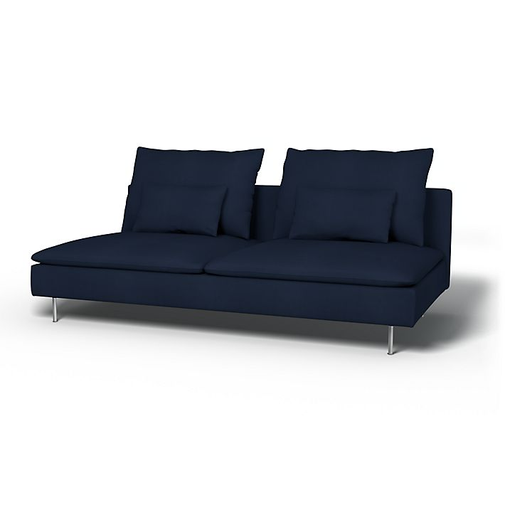 Söderhamn Sofa Covers 3 Seater Regular Fit Using The Fabric Simply Cotton Silver