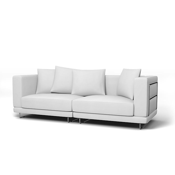 Tylösand Sofa Covers 3 Seater Regular Fit Using The Fabric Simply Cotton Silver