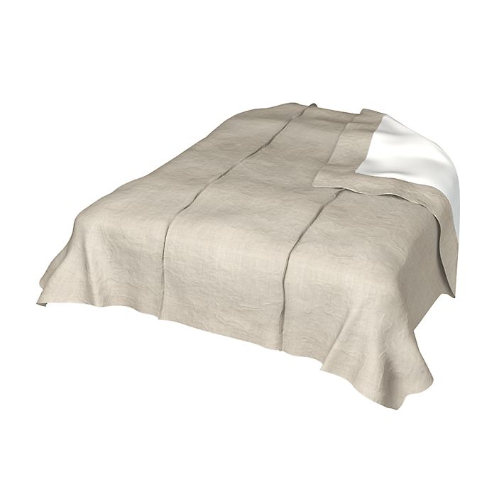 Bedspread, Bedspreads, 150x240 cm, Loose Fit using the fabric Rosendal Pure Washed Linen Unbleached