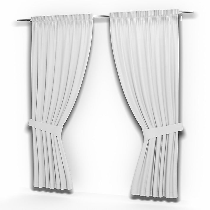 Pair of Curtain Panels, Curtains using the fabric Simply Cotton Silver Grey