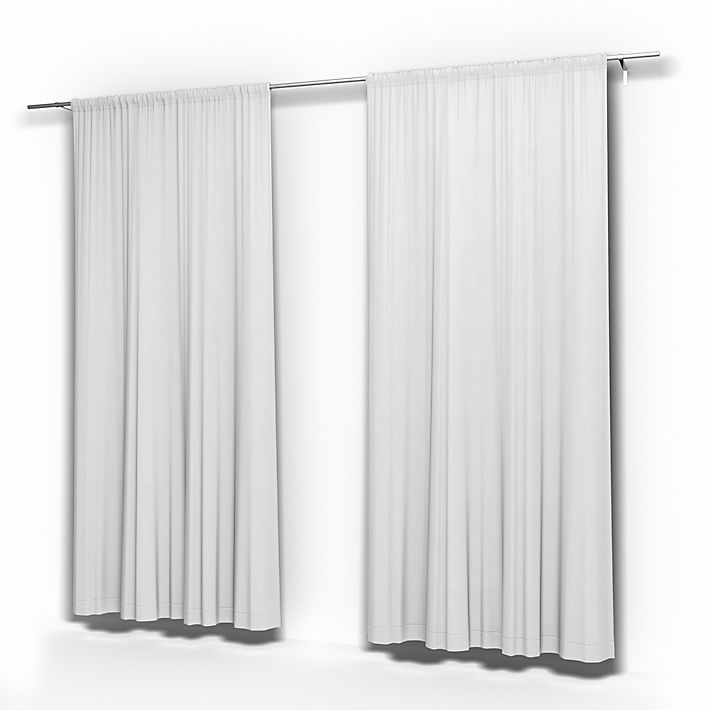 Pair of Curtains Panels, Curtains using the fabric Simply Cotton Silver Grey