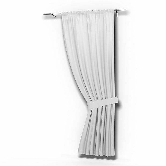 Single Curtain Panel, Curtains using the fabric Simply Cotton Silver Grey
