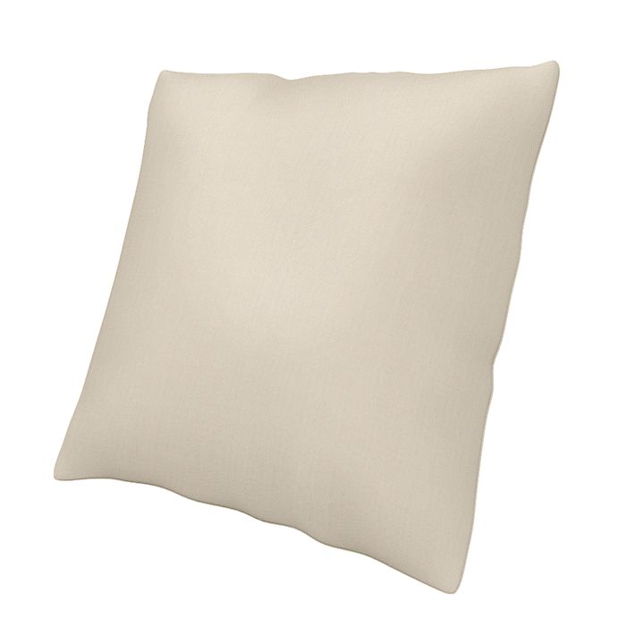 Cushion Cover, Cushion Covers, 50x50 cm, Regular Fit  using the fabric Panama Cotton Sand Beige