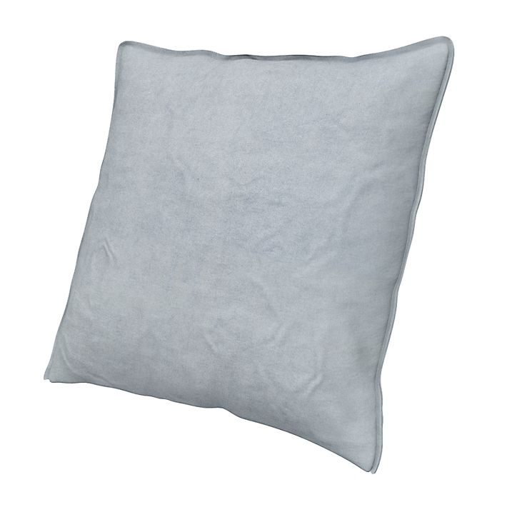 Cushion Cover, Cushion Covers, 50x50 cm, Loose Fit Urban using the fabric Simply Velvet  Silver Grey