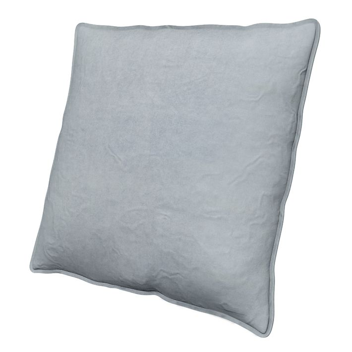 Cushion Cover, Cushion Covers, 65x65 cm, Loose Fit Urban using the fabric Simply Velvet  Silver Grey