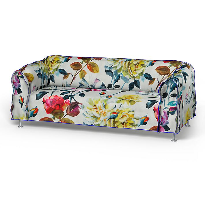 Delaktig, Sofa Covers, 3 Seater, Floral - Tom Dixon Collection using the fabric Floral Fuchsia