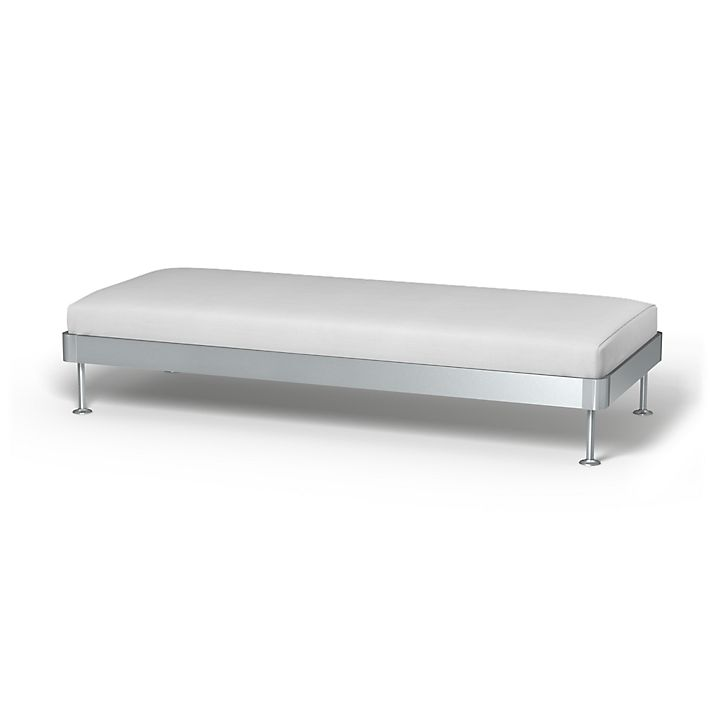Delaktig, Sofa Covers, 3 seat Platform, Regular Fit using the fabric Simply Cotton Silver Grey