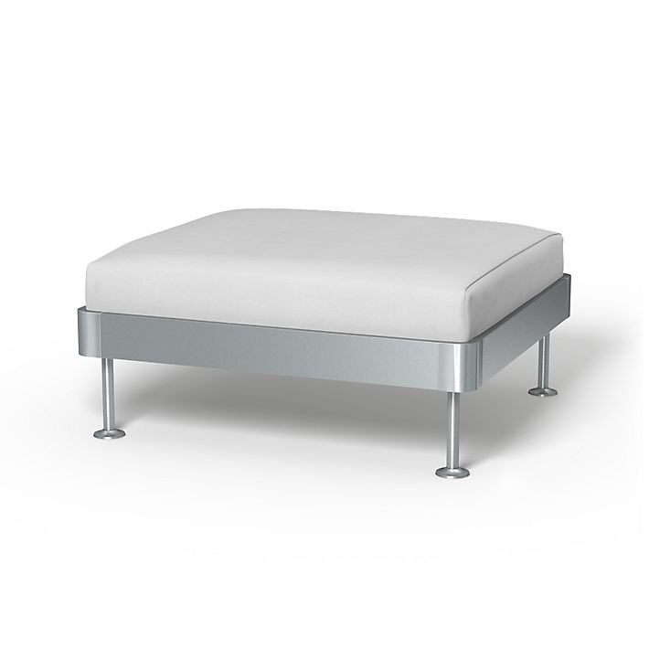 Delaktig, Sofa Covers, 1 seat Platform, Regular Fit using the fabric Simply Cotton Silver Grey