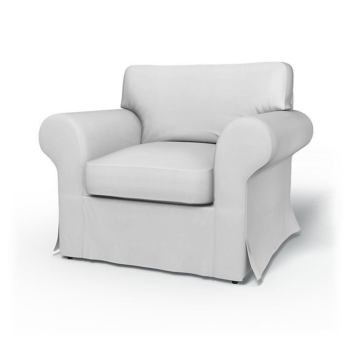 Ektorp, Armchair Covers, Armchair, without piping, Regular Fit without piping using the fabric Simply Cotton Silver Grey