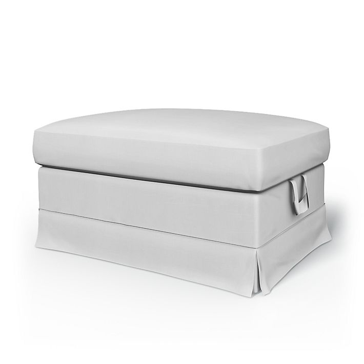 Ektorp Bromma, Footstool Covers, Footstool, Regular Fit without piping using the fabric Simply Cotton Silver Grey