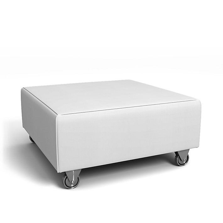 Falsterbo, Footstool Covers, Footstool, Regular Fit using the fabric Simply Cotton Silver Grey