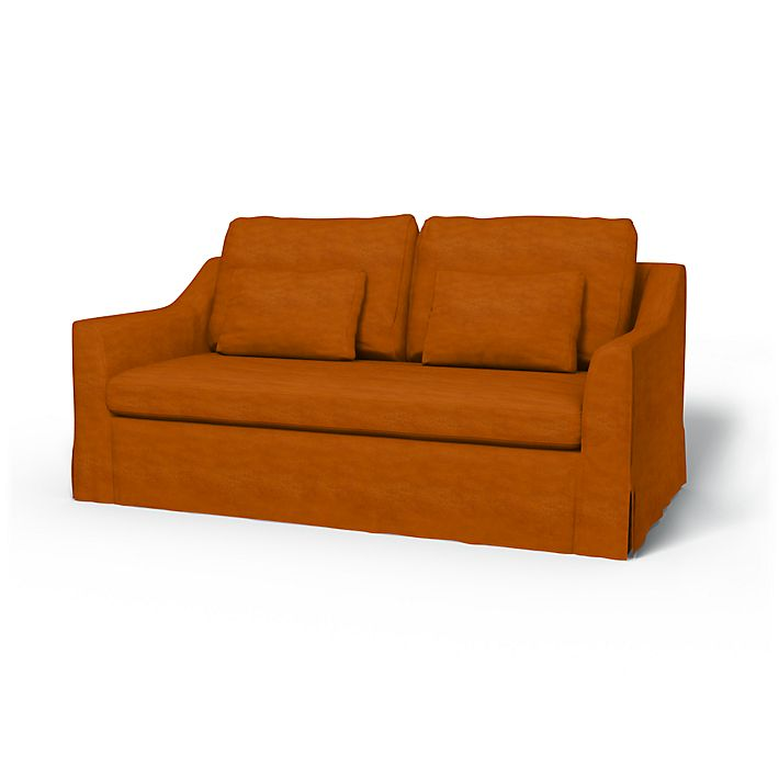 Färlöv, Sofa Covers, 2 Seater, Regular Fit using the fabric Simply Velvet  Cognac