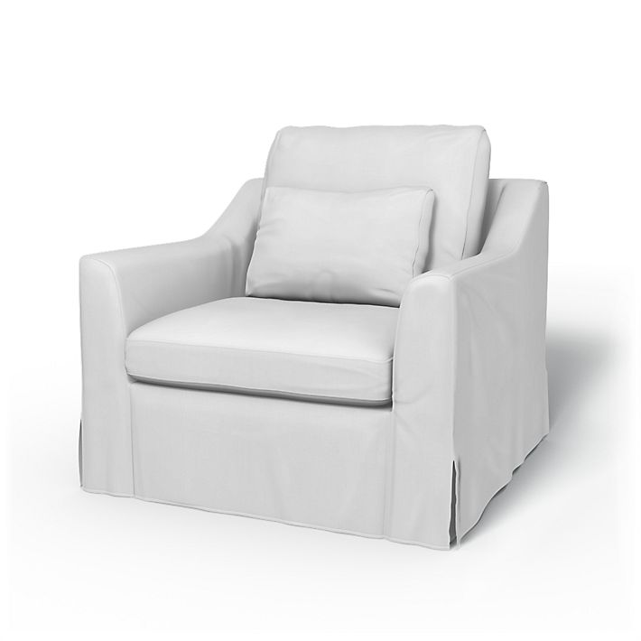 Färlöv, Armchair Covers, Armchair, Regular Fit using the fabric Simply Cotton Silver Grey