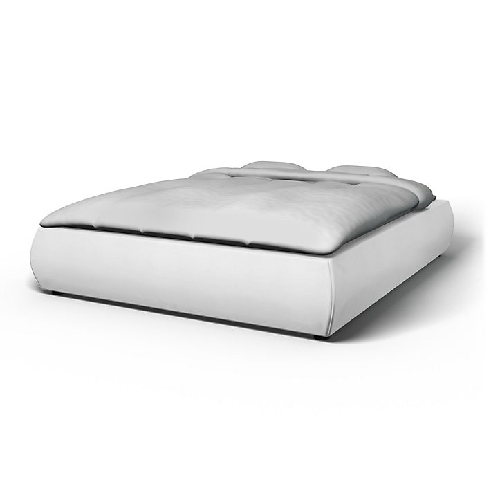 Grimen, Bed Frame Covers, 160 cm, Regular Fit using the fabric Simply Cotton Silver Grey
