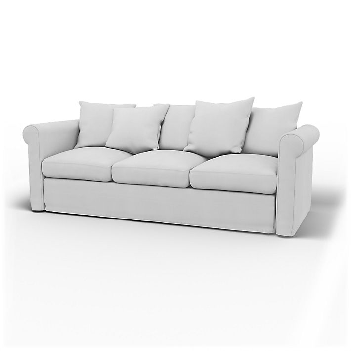 Grönlid, Sofa Covers, 3 Seater, Regular Fit using the fabric Simply Cotton Silver Grey
