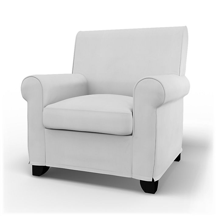 Grönlid, Armchair Covers, Armchair, Regular Fit using the fabric Simply Cotton Silver Grey