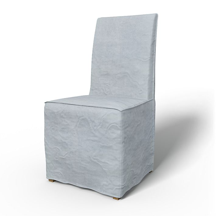 Henriksdal, Chair Covers, Chairs, Loose Fit Urban using the fabric Simply Velvet  Silver Grey