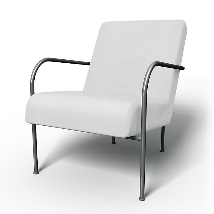 Ikea PS, Armchair Covers, Armchair, Regular Fit using the fabric Simply Cotton Silver Grey