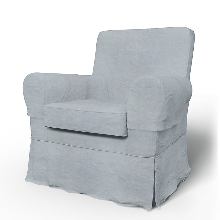 Jennylund, Armchair Covers, Armchair, Loose Fit using the fabric Simply Velvet  Silver Grey