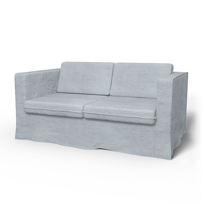 Karlanda, Sofa Covers, 2 Seater, Loose Fit using the fabric Simply Velvet  Silver Grey