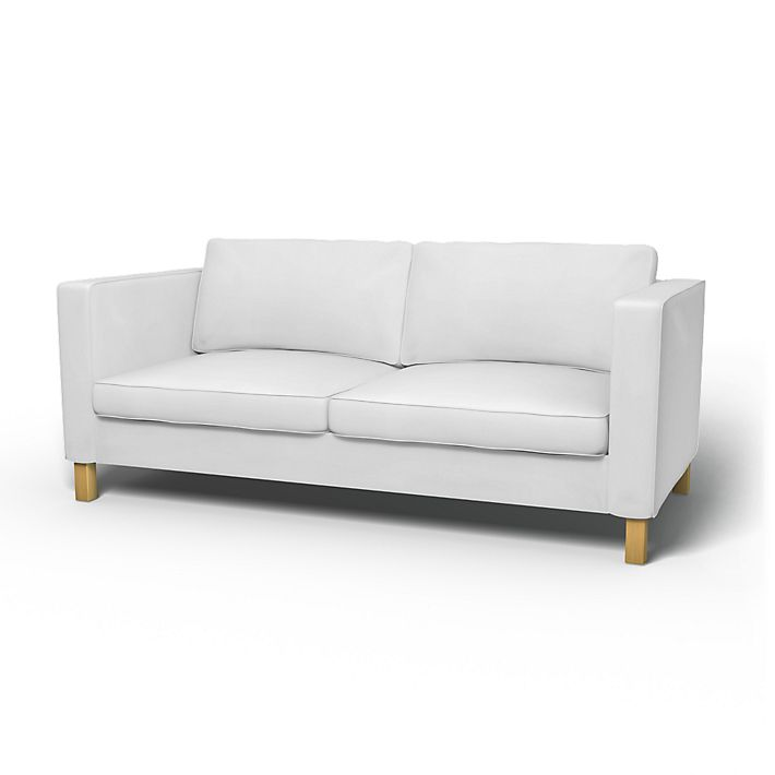 Karlanda, Sofatrekk, Sovesofa, Regular Fit å bruke tekstilen Simply Cotton Silver Grey