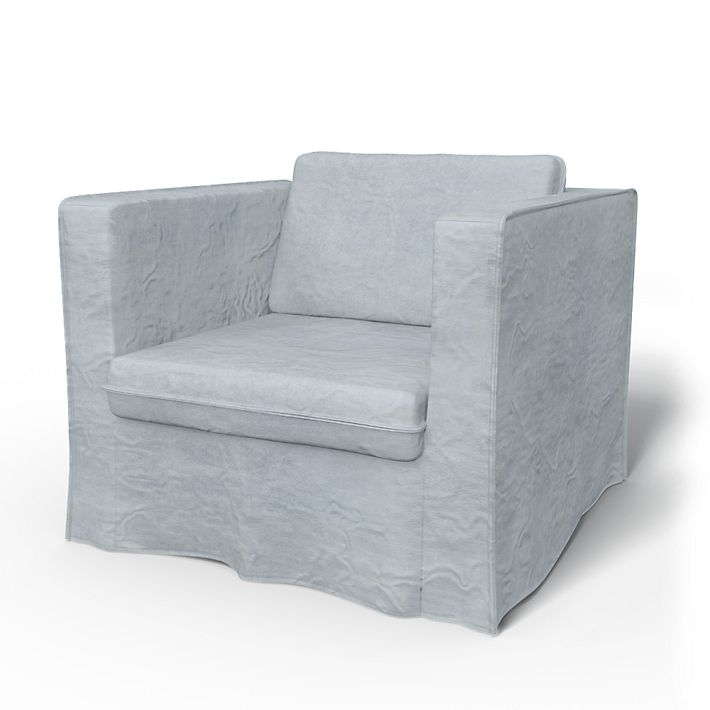 Karlanda, Armchair Covers, Armchair, Loose Fit  using the fabric Simply Velvet  Silver Grey