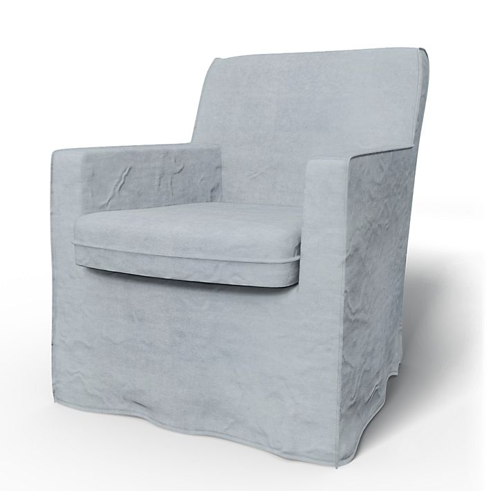Karlstad, Armchair Covers, Armchair, Loose Fit using the fabric Simply Velvet  Silver Grey