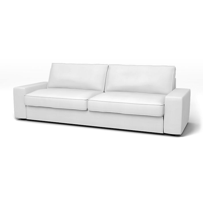 Kivik, Sofatrekk, Sovesofa, Regular Fit å bruke tekstilen Simply Cotton Silver Grey