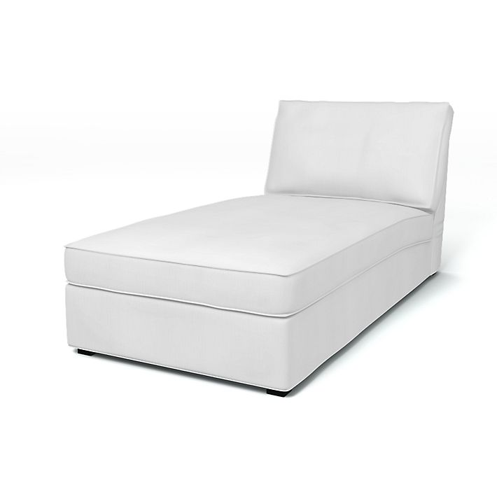 Kivik, Fodere per divani, Chaise-longue, Regular Fit in tessuto Simply Cotton Silver Grey