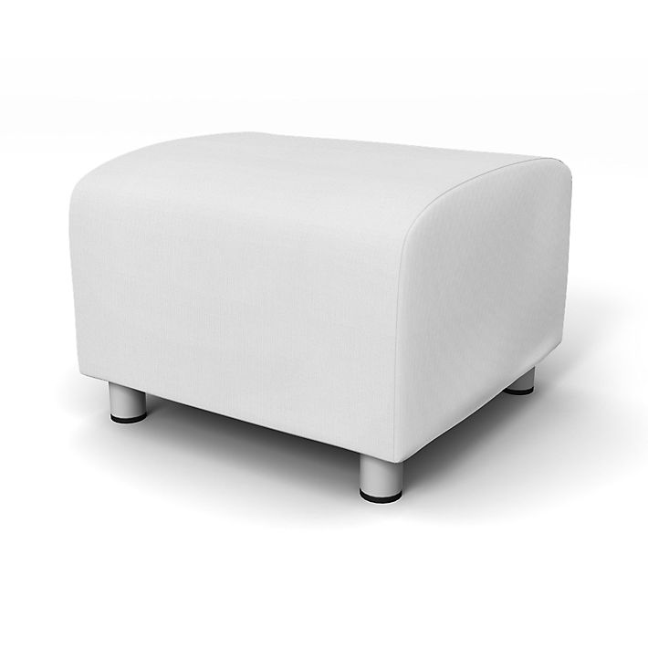 Klippan, Footstool Covers, Footstool, Regular Fit using the fabric Simply Cotton Silver Grey