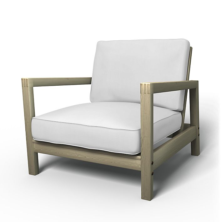 Lillberg, Armchair Covers, Armchair, Regular Fit using the fabric Simply Cotton Silver Grey