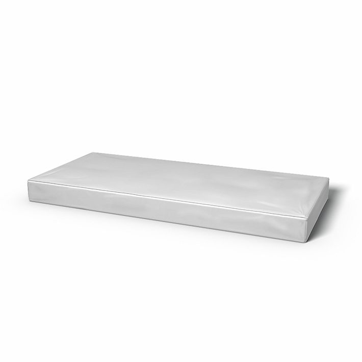 Mattress Cover with piping, Mattress Covers, 70x160cm, Height 12 cm, Regular Fit with piping using the fabric Simply Cotton Silver Grey