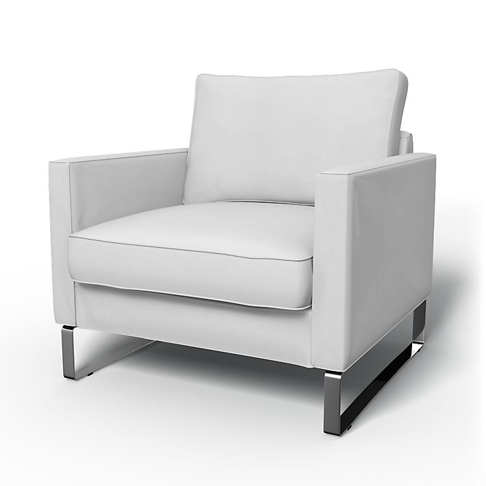 Mellby, Armchair Covers, Armchair, Regular Fit using the fabric Simply Cotton Silver Grey