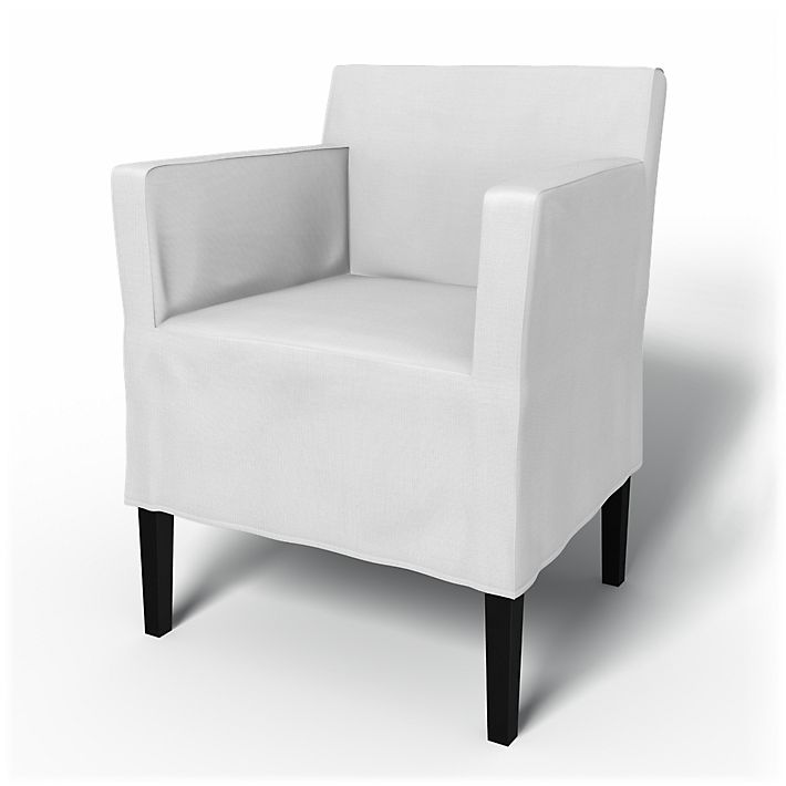 Nils, Chair Covers, Chair with armrests, Regular Fit using the fabric Simply Cotton Silver Grey