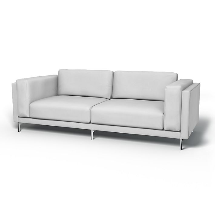 Nockeby, Sofa Covers, 3 Seater, Regular Fit using the fabric Simply Cotton Silver Grey