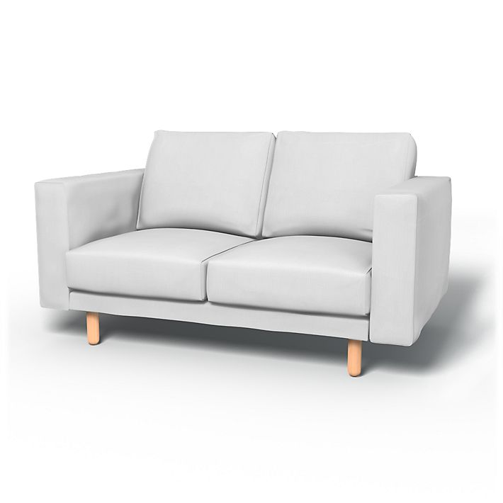 Norsborg, Sofa Covers, 2 seater without pockets, Regular Fit using the fabric Simply Cotton Silver Grey