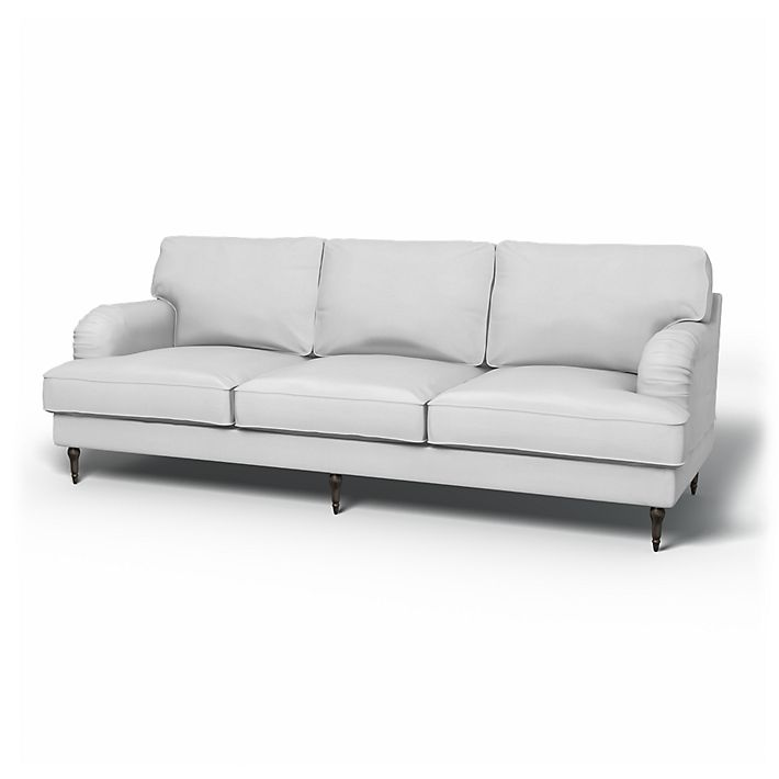 Stocksund, Sofa Covers, 3.5 Seater, Regular Fit using the fabric Simply Cotton Silver Grey