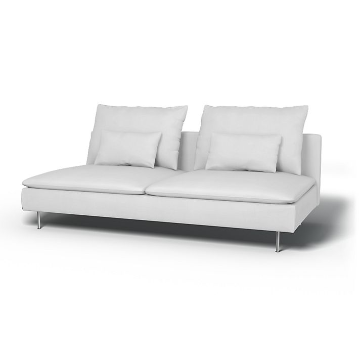 Söderhamn, Sofa Covers, 3 Seater, Regular Fit using the fabric Simply Cotton Silver Grey