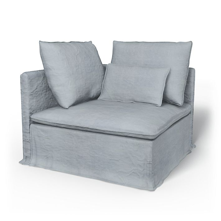 Söderhamn, Sofa Covers, Corner section, Loose Fit using the fabric Simply Velvet  Silver Grey