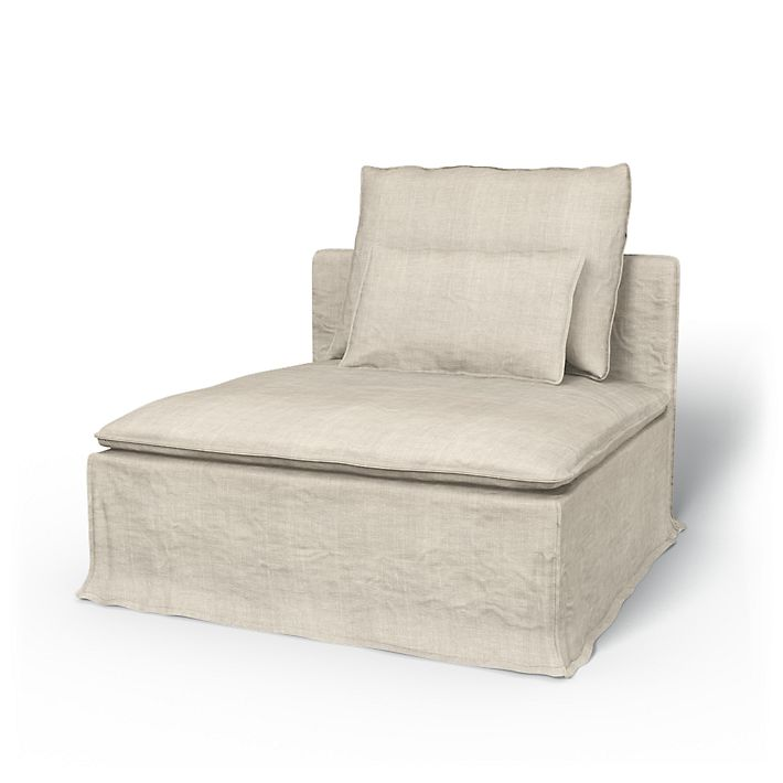 Söderhamn, Armchair Covers, Seating module, Loose Fit using the fabric Rosendal Pure Washed Linen Unbleached